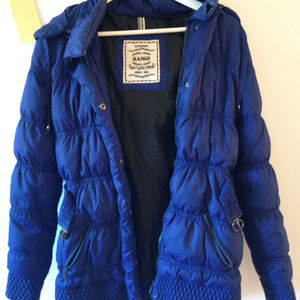 Blue mango puffer jacket
